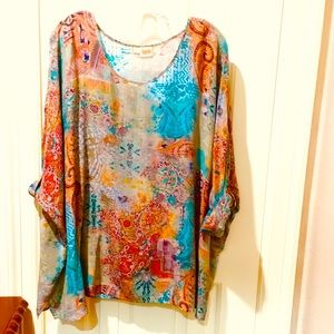 Tianello by Steve Barraza silk tunic size large